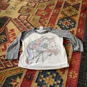Spider-Man raglan t-shirt.